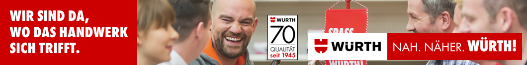 Würth - Sponsor beim Internet-Marketing-Tag im Handwerk