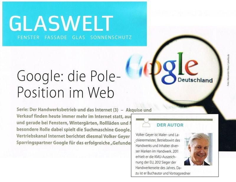 Google - die Pole-Position im Web