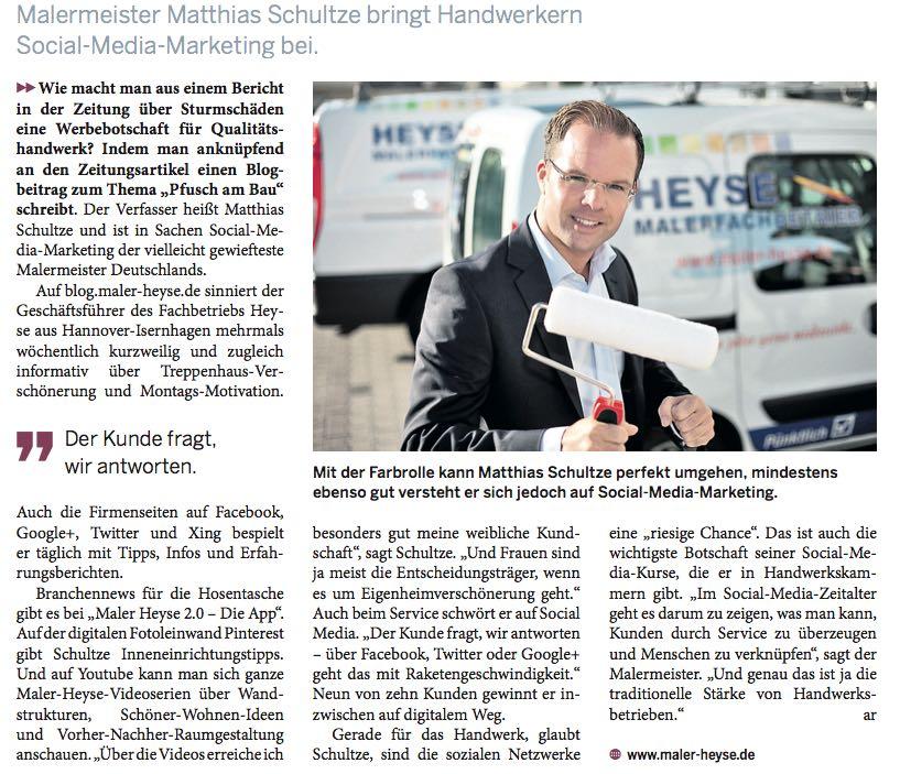 Erfolgreich im Handwerk - Social Media Experte Matthias Schultze