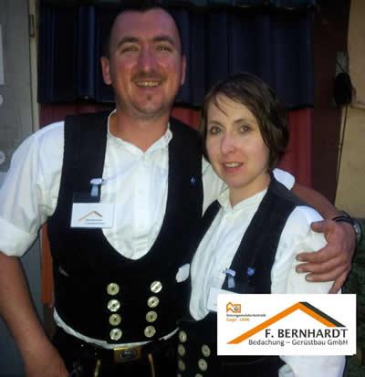 Melanie Bernhardt mit ihrem Bruder Oliver Bernhardt