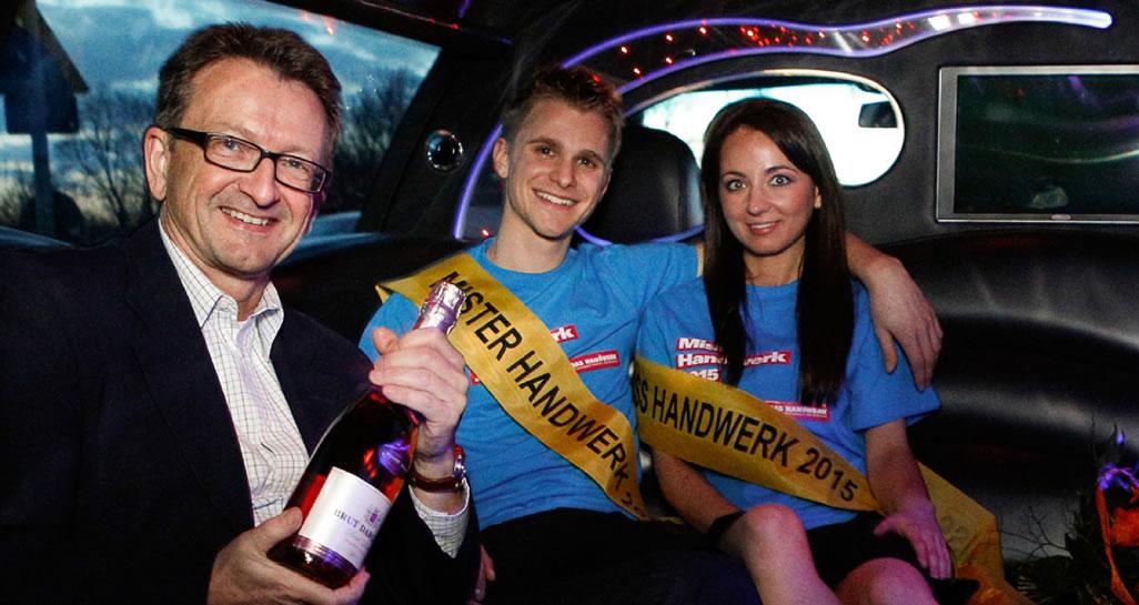 Hans Jürgen Below bei den Feierlichkeiten nach der Siegerehrung von Miss und Mister Handwerk